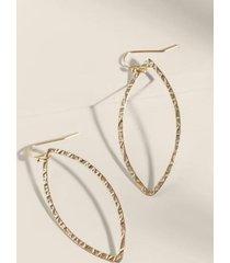 abigail open marquis drop earrings - gold