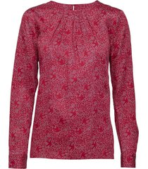 o3. featherweight printed blouse blouse lange mouwen rood gant