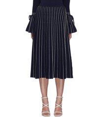 raelynn ribbon embellished stripe midi skirt