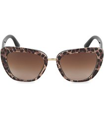 55mm squared cat eye sunglasses