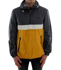 windjack jack & jones 12184356 jjhunter light anorak jacket yolk yellow/block