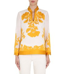 tory burch appliqué tunic shirt