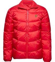 funnel neck puffa jacket fodrad jacka röd lyle & scott