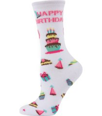 memoi happy birthday women's novelty socks