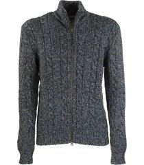 etro zipped braided cardigan