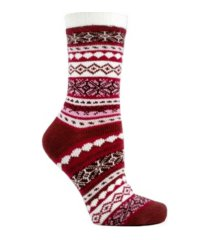minxny women's non-skid double layer warm soft and fuzzy slipper socks, 3 piece