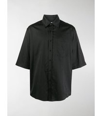 marine serre oversized short sleeved satin shirt