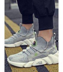 malla transpirable deportiva informal de moda para hombre al aire libre zapatillas deportivas para correr