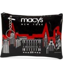 macy's city glitter pouch