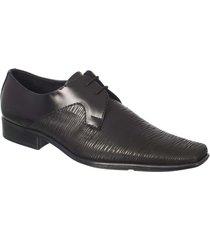 zapato formal pierre d'agostiny en cuero con textura rayas