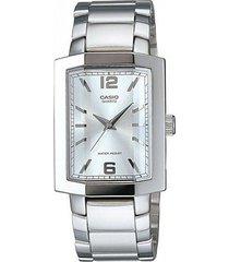 reloj casio ltp-1233d-7a - plateado