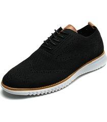 zapato casual de amarrar negro pierre cardin pc7259-b