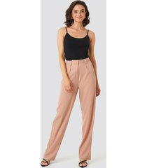 na-kd classic flared striped pants - pink
