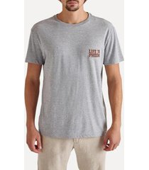 camiseta bordada life is phoda peq reserva - masculino