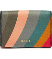 paul smith women's swirl card holder - multi