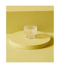 luminária porta-vela pavia de vidro cor: transparente - tamanho: único