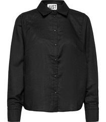 collin shirt långärmad skjorta svart just female