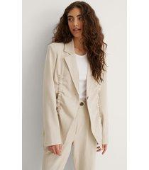 na-kd reborn recycled blazerrecycled blazer - beige
