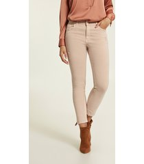 motivi pantaloni skinny in drill donna rosa
