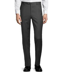 slim-fit classic wool trousers