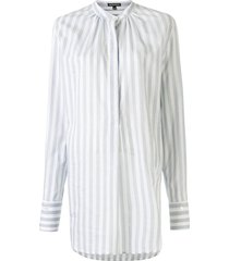 ann demeulemeester striped long shirt - blue