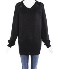 acne studios oversized knit sweater black sz: custom