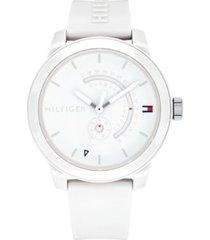 tommy hilfiger men's white sport watch white -