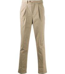 neil barrett tapered leg chino trousers - neutrals
