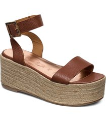 lenisa sandalette med klack espadrilles brun ted baker