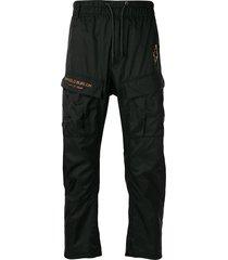 marcelo burlon county of milan fire cross track trousers - black
