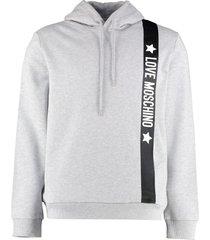 love moschino printed hoodie
