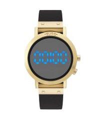 relógio digital euro feminino - eubj3407aat4p dourado