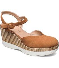 layosa_ks sandalette med klack espadrilles brun unisa
