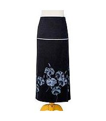 cotton wrap skirt, 'hibiscus' (thailand)