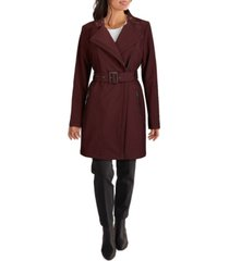kenneth cole women's asymmetrical belted rain coat