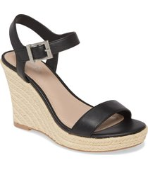 women's charles by charles david loyalist wedge sandal, size 8.5 m - black