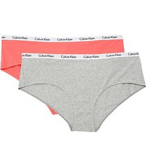 2-pack logo cotton blend bikini bottoms