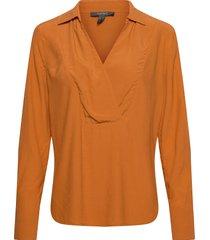 blouses woven blus långärmad gul esprit collection