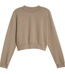 women's cotton citizen milan tie dye crop sweatshirt, size large - grey