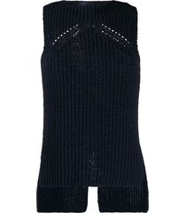eudon choi debbie chunky knitted top - blue