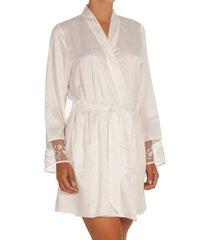 pyjama's / nachthemden selmark siena ivoorkleurig negligee