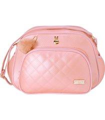 bolsa maternidade pequena pirulitando pilli rosa