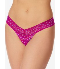 hanky panky women's cross dyed leopard low rise thong