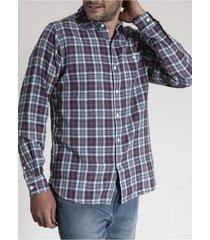 camisa algodón organico bradford azul rockford