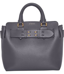 burberry small belt triple stud leather satchel -