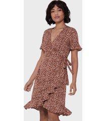 vestido only marrón - calce regular