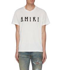 'hippie' logo print t-shirt