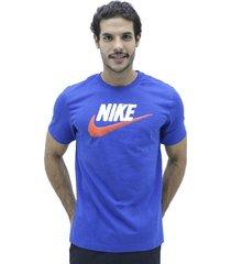camiseta azul nike tee brand mark nk camis