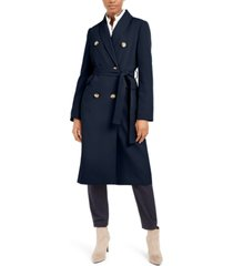 calvin klein double-breasted belted trench coat
