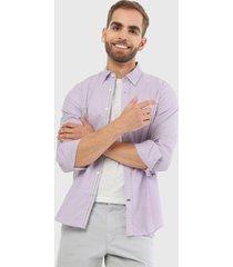 camisa lila nautica